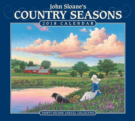 barnes and noble calendars 2018 sloane s country seasons deluxe wall calendar by