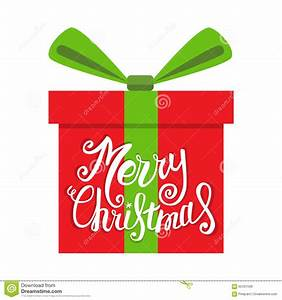 Vector Merry Christmas Greeting Card. Gift Boxes And ...