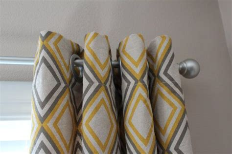 yellow and gray panel curtains yellow gray curtains craft room decor