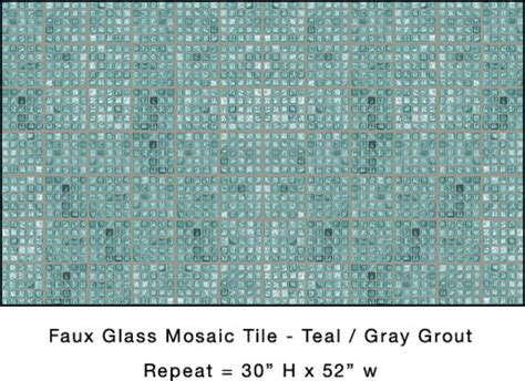 teal faux glass mosaic tile eclectic wallpaper dc