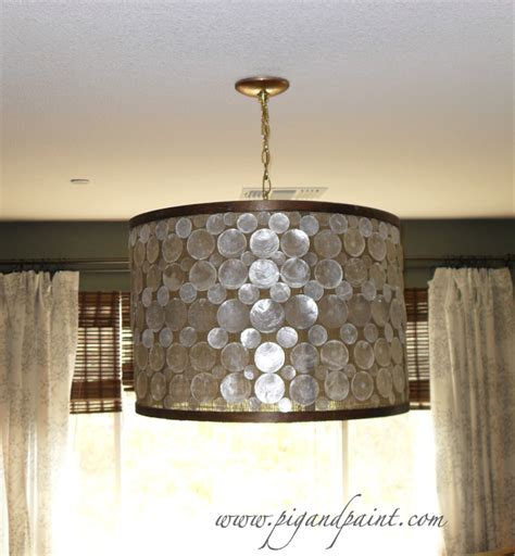 Capiz Drum Chandelier by How To Make A Diy Designer Capiz Drum Shade Chandelier A