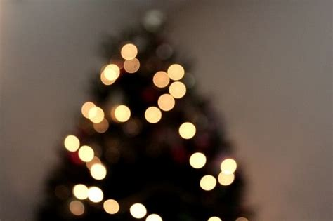 christmas tree blurry white lights twitter covers
