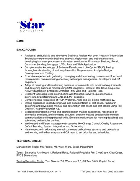 business analyst resume exle ideas essay human right
