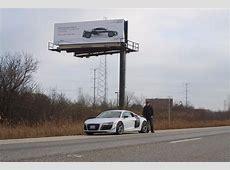 Audi Dealer's Brilliant Billboard Warns Of R8 GT Sale