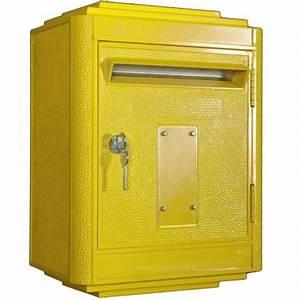 Dimension Boite Aux Lettres : bo te aux lettres 1950 jaune conforme par la bo te jaune ~ Dailycaller-alerts.com Idées de Décoration