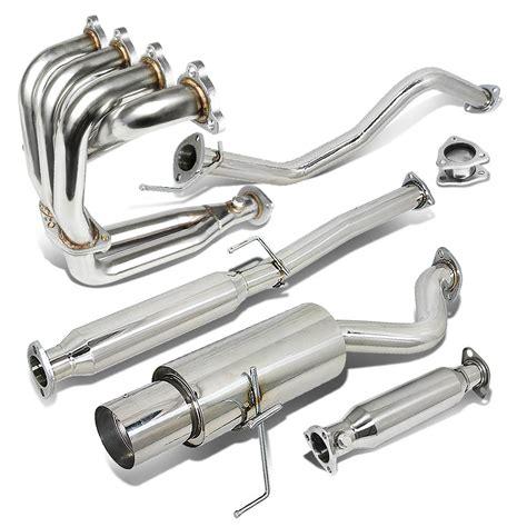 Dna Exhaust System by 96 00 Honda Civic Ek Ej Em Hatchback Single 4 5 Quot Tip