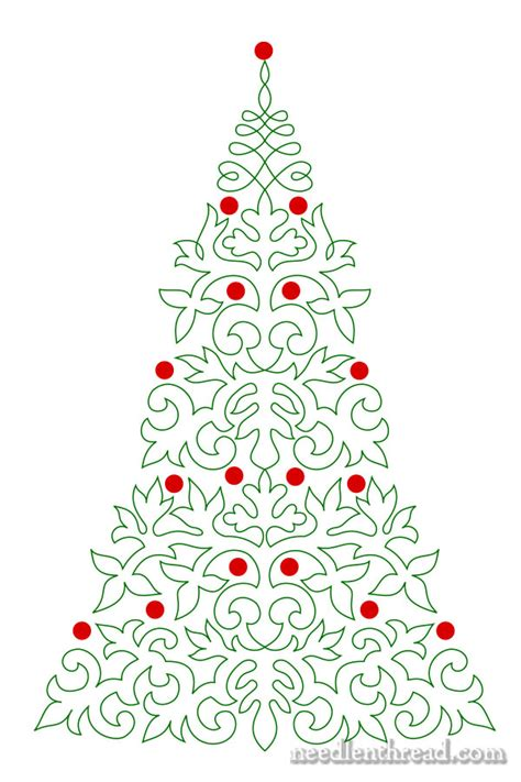embroider a christmas tree needlenthread com