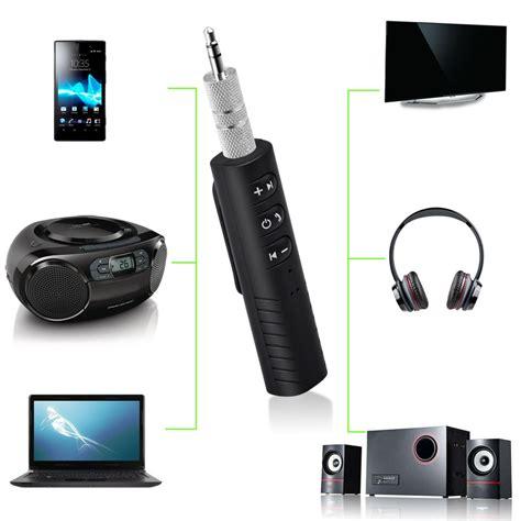 portable mini wireless handsfree car bluetooth receiver aux  audio adapter
