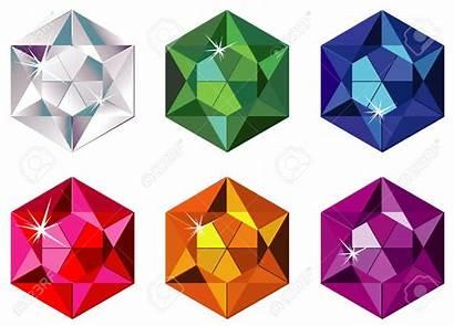 Stones Precious Clipart Hexagon Cut Sparkle Clipground