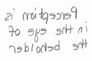 Dr Deb Mirror Writing SihT DaeR UoY NaC