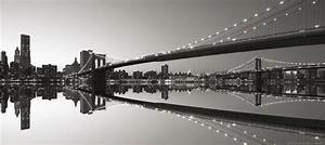 Fototapete Tapete Brücke Brooklyn Bridge New York NYC Brooklyn Foto 90 x 202 cm