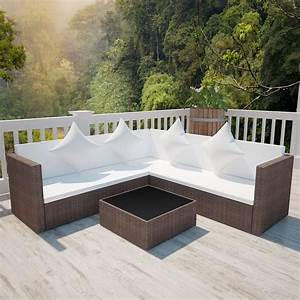 Acheter vidaxl meuble de jardin avec canape a 2 places for Tapis de sol avec canape de jardin en resine tressee pas cher