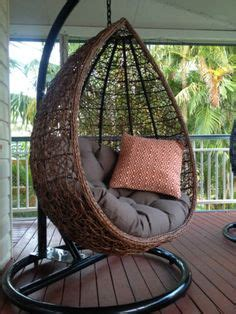 mimosa resin wicker hanging egg chair