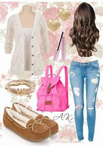 A really cute girly back to school outfit | Fashion | Pinterest | School outfits Girly and School