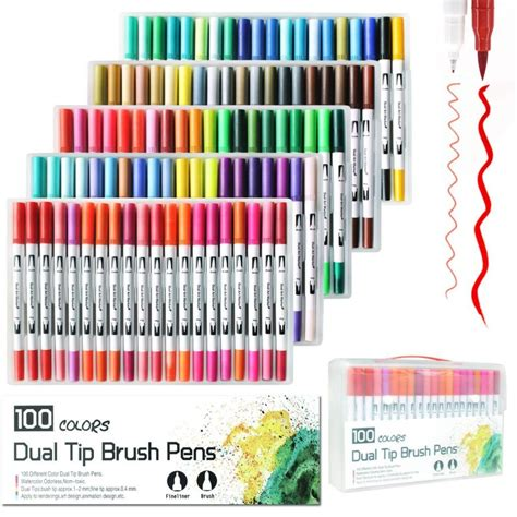 color dual tip brush  marker set  sketch