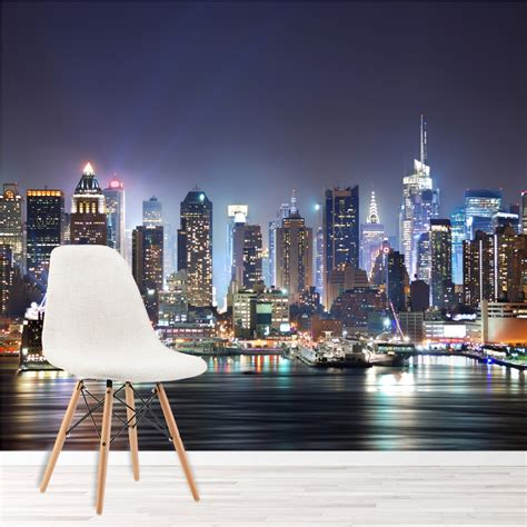 york city skyscrapers skyline wall mural wallpaper ws