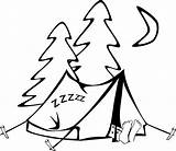 Tent Coloring Camping Printable Pages Colouring Sheet sketch template