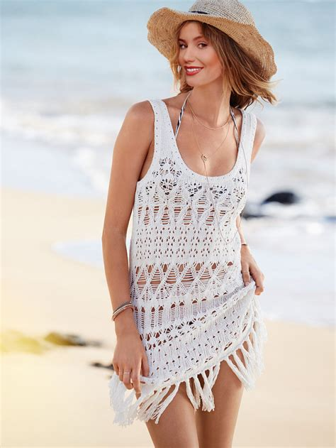 White Swimsuit Cover Up by New Fashion Summer Crochet Beach Cover Up White