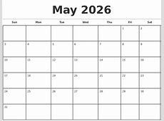April 2026 Print A Calendar