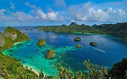 Raja Ampat Indonesia Islands Bay Ocean Desktop