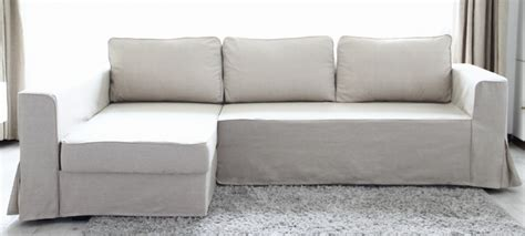 Sofa Weiß Ikea by Fit Linen Manstad Sofa Slipcovers Now Available
