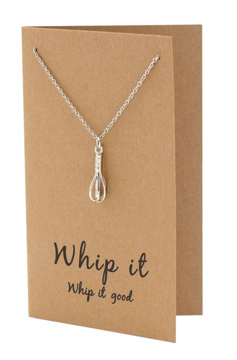 nadja whisk necklace gift  bakers funny greeting card