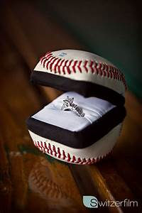 Engagement ring box my boyfriend fiance made out of a for Baseball wedding ring box