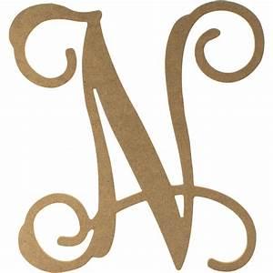 12quot wood letter vine monogram n ab2209 craftoutletcom With vine monogram letters