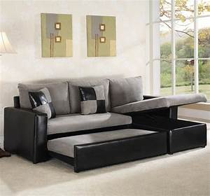 Small black leather sectional sofa cleanupfloridacom for Small sectional sofa used