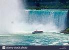 Niagara Falls tour boat Hornblower at the foot of grand ...