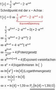 Nullstellen Einer Funktion Berechnen : achsenschnittpunkte von e funktionen ~ Themetempest.com Abrechnung