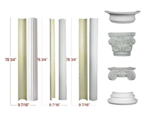 molding and trim half columns at wishihadthat com the column superstore