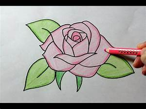 How to Draw a Rose - Easy Drawing Tutorial, My Crafts and