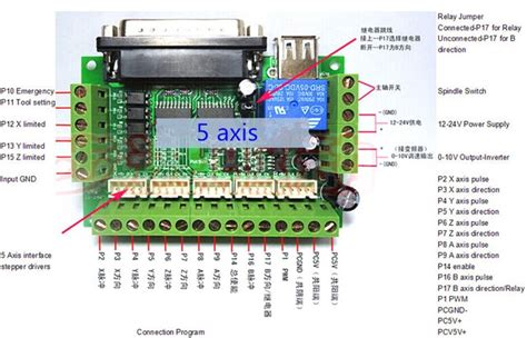 Axis Cnc Interface Adapter Breakout Board For Stepper