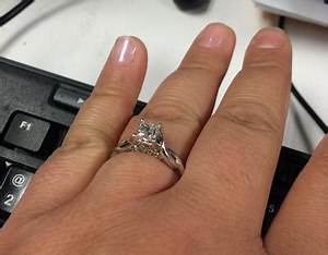 1 ct tw princess cut diamond twist shank engagement With zales wedding ring upgrade