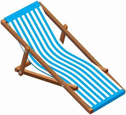 Chair Transparent Clip Lounge Clipart Vacation Kursi