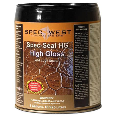outdoor barbecue areas spec seal hg high gloss solvent based look sealer