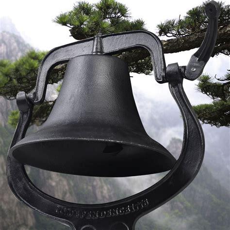 14 quot large cast iron dinner farm bell antique vintage style church school new ebay