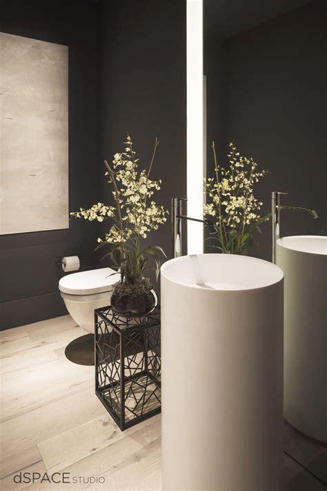 Modern Bathroom Freestanding Sinks by Beautiful Modern Powder Room Oak Flooring Led Lighting
