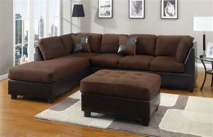 chocolate sectional couch 3 pc set microfiber sofa With ebay sectional sofa microfiber