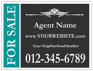 real estate 117 real estate sign templates realtor With yard sign design template