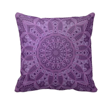 Decorative Pillows by Boho Purple Throw Pillow Decorative Throw Pillows