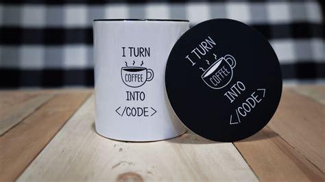 turn coffee  code mugs  developers