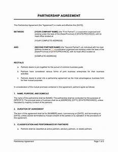business buyout agreement template - partnership agreement short form template sample form