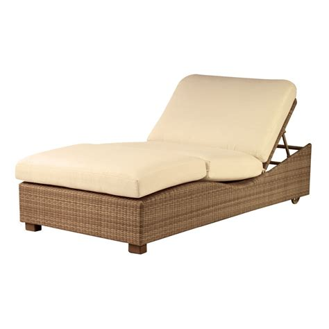 chaise luge whitecraft by woodard saddleback wicker chaise