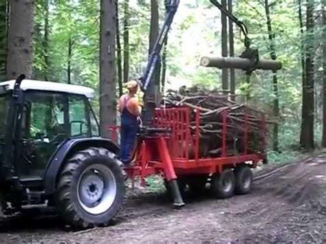 rückewagen mit kran selbstgebauter r 252 ckewagen mit kran im einsatz