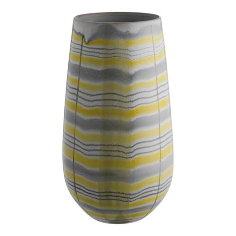 Yellow And Grey Vase grey and yellow mowat patterned vase brandalley