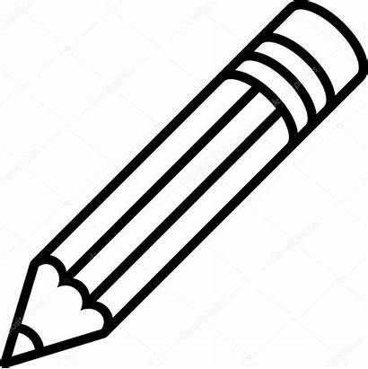 Pencil Vector Icon Outline Clipart Illustration Clip