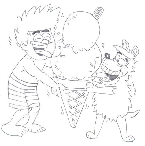 dennis and gnasher by jemmalou94 on deviantart