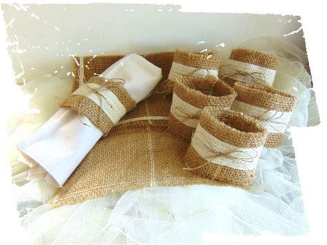 serviette de cuisine ronds de serviette en toile de jute avec pochette de rangement cuisine et service de table par